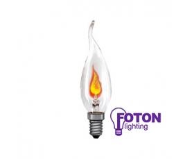 Лампа накаливания  DECOR FLICKER CA32  3W CL 230V E14 FOTON