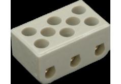 Колодка клемная 3*3 керамика 10А