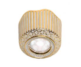 Светильник точечный FD1017SOP Gold White Patina Fede