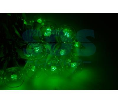 Гирлянда LED Galaxy Bulb String 10м, черный КАУЧУК, 30 ламп*6 LED ЗЕЛЕНЫЕ, влагостойкая IP65