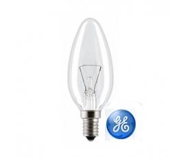 Лампа накаливания C1 40W CL 230V E14  GE