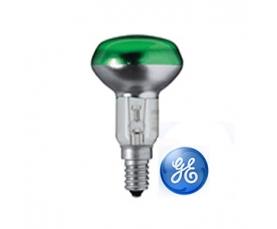 Лампа зеркальная R50 40W 230V E14 зеленая GE