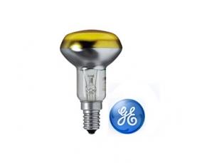 Лампа зеркальная R50 40W 230V E14 желтая GE