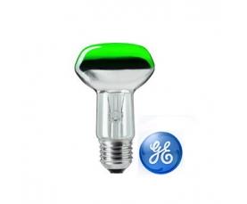 Лампа зеркальная R63 40W 230V E27 зеленая GE