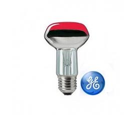 Лампа зеркальная R63  40W 230V E27  красная GE