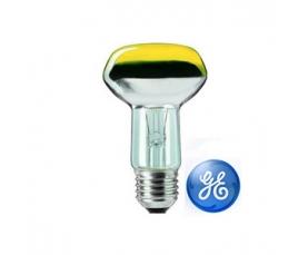 Лампа зеркальная R63 40W 230V E27 желтая GE