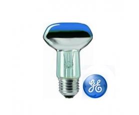 Лампа зеркальная R63 40W 230V E27 синяя GE
