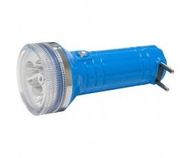 Фонарь аккумуляторный 3LED+1Laser DC (свинцово-кислотная батарея) красный FH-1 (SS-904A) 3 Feron