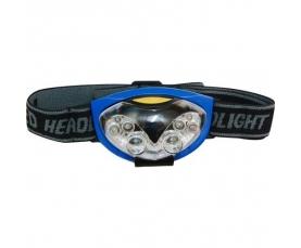 Фонарь аккумуляторный головной 0.6W 6LED сине-черный TH2256 Feron