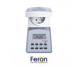 Розетка с таймером TM23 16A 220-240V IP 44 недельная FERON