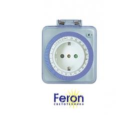 Розетка с таймером TM31 16A 220-240V IP 44 суточная FERON