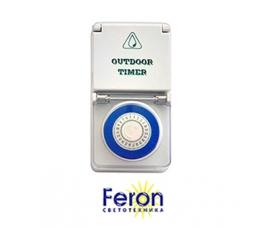 Розетка с таймером TM51 16A 220-240V IP 44 суточная FERON