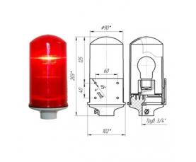Заградительный огонь низкой интенсивности СДЗО-05-60Вт >10cd тип А