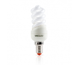 Лампа энергосберегающая Spiral (F) 8W 2700К Е14 WOLTA
