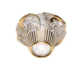 Светильник точечный FD1018SOP Gold White Patina Fede