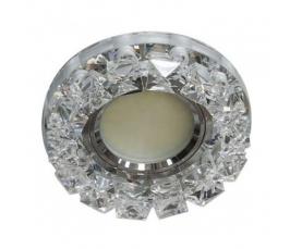 Светильник встраиваемый  MR16 50W G5.3 со встроенными светодиодами RGB 2,5W, прозрачный, прозрачный, CD2542 FERON