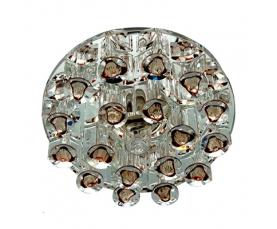 Светильник встраиваемый с дополнительной светодиодной RGB подсветкой 2.5W   JCD9 35 W 230V/50Hz G9, коричневый, прозрачный, 1550 FERON