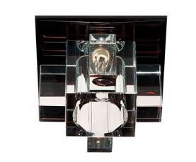 Светильник потолочный JCD9 35W G9  cо встроенными светодиодами RGB 2,5W прозрачный, черный,1525 FERON