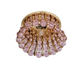 Светильник потолочный, JCD9 G9 с  розовым стеклом, золото, с лампой, CD2120 FERON