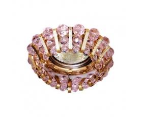 Светильник потолочный, JCDR G5.3 с  розовым стеклом, золото, с лампой, CD2121 FERON