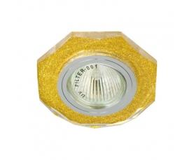 Светильник потолочный, MR16 G5.3 мерцающее золото, золото, 8020-2 FERON
