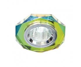 Светильник потолочный, MR16 G5.3 5-мультиколор, серебро, 8020-2 FERON