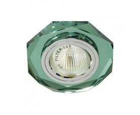 Светильник потолочный, MR16 G5.3 зеленый, серебро, 8020-2 FERON