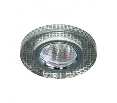 Светильник потолочный, MR16 G5.3 прозрачный,серебро, серебро,  8040-2 FERON