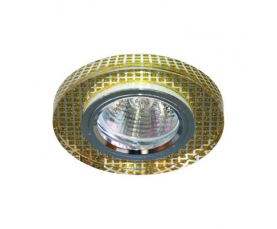 Светильник потолочный, MR16 G5.3 прозрачный,золото, серебро 8040-2 FERON