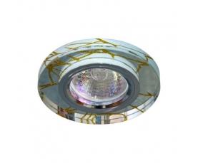 Светильник потолочный, MR16 G5.3 прозрачный-золото, хром, 8049-2 FERON