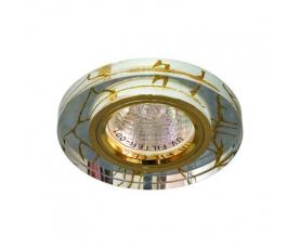 Светильник потолочный, MR16 G5.3 прозрачный-золото, золото, 8049-2 FERON