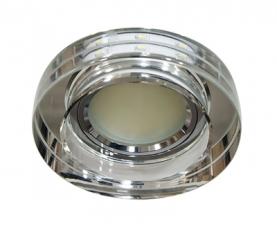 Светильник встраиваемый 12*3014 SMD MR16 12V 50W G5.3, прозрачный, серебро, 8080-2 FERON