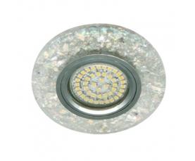 Светильник встраиваемый, 15*2835 SMD, MR16 50W G5.3, белый, серебро, 8585-2 FERON