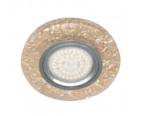 Светильник встраиваемый, 15*2835 SMD, MR16 50W G5.3, желтый, серебро, 8585-2 FERON