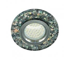Светильник встраиваемый, 15*2835 SMD, MR16 50W G5.3, черный, серебро, 8585-2 FERON