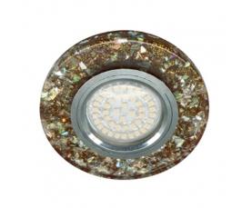 Светильник встраиваемый, 15*2835 SMD, MR16 50W G5.3, коричневый, серебро, 8585-2 FERON