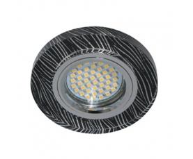Светильник встраиваемый 15*2835 SMD , MR16 50W G5.3, черный-белый, серебро, 8383-2 FERON