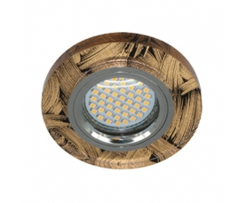 Светильник встраиваемый 15*2835 SMD , MR16 50W G5.3, черный-золото, серебро, 8484-2 FERON
