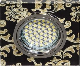 Светильник встраиваемый 15*2835 SMD MR16 12V 50W G5.3, черный, серебро, 8787-2 FERON
