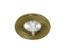 Светильник потолочный, MR16 G5.3 античное золото, DL10 FERON