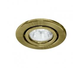 Светильник потолочный, MR16 G5.3 античное золото, DL11 FERON