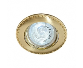 Светильник потолочный, MR16 G5.3 матовое золото-золото, 125Т-MR16 FERON