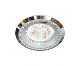 Светильник потолочный  MR16 MAX50W 12V G5.3,  прозрачный, хром,DL103-C FERON