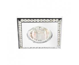 Светильник потолочный  MR16 MAX50W 12V G5.3, прозрачный, белый, DL102-C FERON