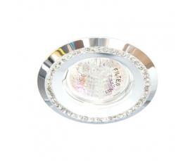 Светильник потолочный  MR16 MAX50W 12V G5.3, прозрачный, белый, DL103-C FERON