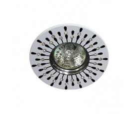 Светильник потолочный  MR16 MAX50W 12V G5.3, прозрачный, белый, DL101R FERON
