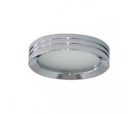 Светильник потолочный, MR16 G5.3 с матовым стеклом, хром, DL210 FERON