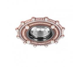 Светильник потолочный  MR16 Max35W 220V G5.3, шампань,хром, CD2051 FERON