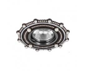 Светильник потолочный  MR16 Max35W 220V G5.3, черный,хром, CD2051 FERON
