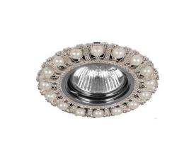 Светильник потолочный  MR16 Max35W 220V G5.3, шампань,хром, CD2052 FERON